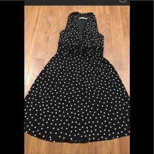 "EUC CUTE ""Piccadilly"" style blk/wht Polkadot dress"